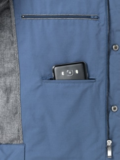 Outdoor-Weste Gentleman Mittelblau Detail 3