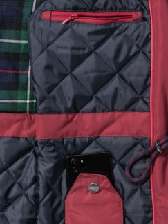 Aquastop Thermo Parka Dunkelrot Detail 3