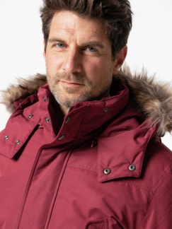 Aquastop Thermo Parka Dunkelrot Detail 4