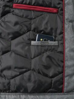 Herbst Jacke Asphaltgrau Detail 3