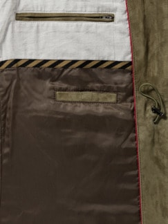 Veloursleder-Jacke Khaki Detail 3