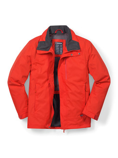 Klepper Jacke Wetterschutz Orange Detail 1
