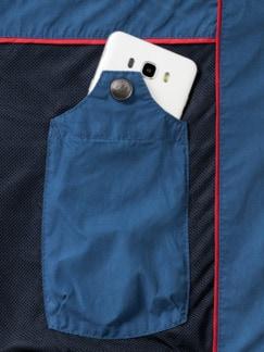 Clubblouson Mittelblau Detail 3