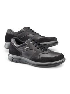 Aquastop Leder-Sneaker Schwarz Detail 1
