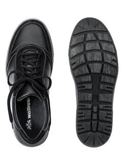 Kalbsleder-Sneaker Schwarz Detail 2
