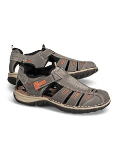 Klepper Trekking-Sandalenschuh Taupe/Orange Detail 1