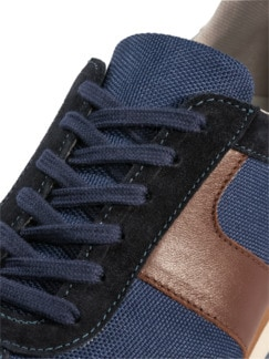 Materialmix-Sneaker Blau Detail 4