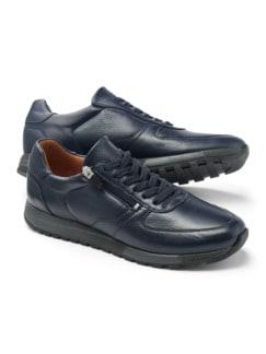 Bequem Hirschleder-Sneaker Blau Detail 1