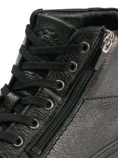 Hirschleder Sneaker High-Top Schwarz Detail 4