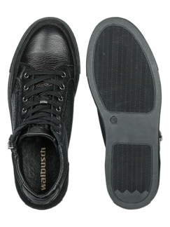 Hirschleder Sneaker High-Top Schwarz Detail 2