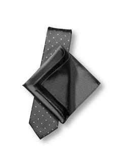 Seidenset Minimal-Punkt Grau Detail 1