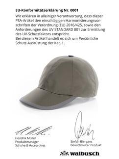 Baseballkappe UV-Schutz Schilf Detail 4