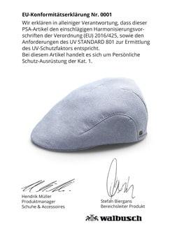 UV Schutz Schiebermütze Blau Detail 4