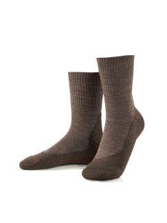 Wander-Socke Dame 2er-Pack Braun Melange Detail 1