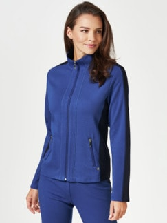 Freizeitjacke Colourblock Royalblau/Marine Detail 1