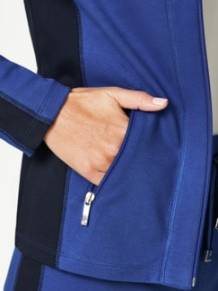 Freizeitjacke Colourblock Royalblau/Marine Detail 3