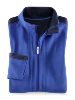 Freizeitjacke Colourblock Royalblau/Marine Detail 2