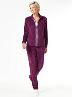 Nicki Homewear Jacke Waldbeere Detail 4