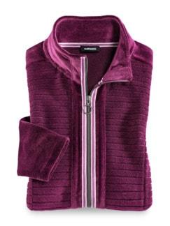 Nicki Homewear Jacke Waldbeere Detail 2