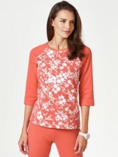 Sweatshirt Blumenpracht Pfirsich/Weiß Detail 1