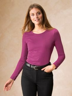 Langarm-Shirt Rundhals Cyclam Detail 1