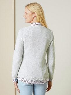 Pullover Sternenstaub Weiß Detail 3