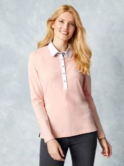 Langarm-Polo Rose Detail 1