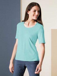 Viskose-Shirt Eisblau Detail 1