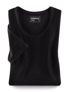 Viskose-Shirt Schwarz Detail 2