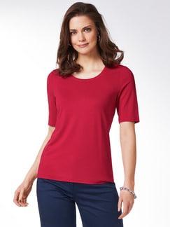 Viskose-Shirt Rot Detail 1