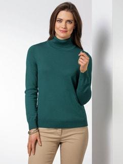 Exquisit Rollkragen-Pullover Smaragd Detail 1