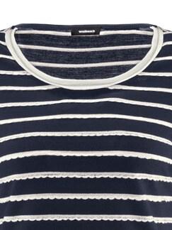 Shirt Strukturstreifen Marine/Offwhite Detail 4