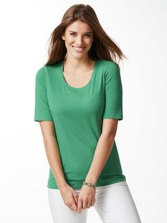 Viskose-Shirt Grasgrün Detail 1