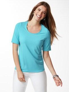 Viskose-Shirt Aqua Detail 1
