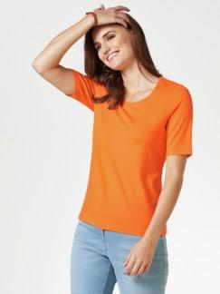 Viskose-Shirt Mandarine Detail 1