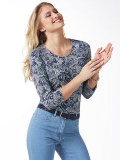 Paisley-Shirt Blau/Grau Detail 1