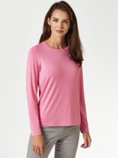Viskose Shirt Langarm Pink Detail 1