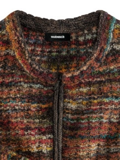 Alpaka Strickjacke - Soft Boucle Rost Detail 3