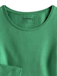 Viskose Shirt Langarm Grün Detail 3