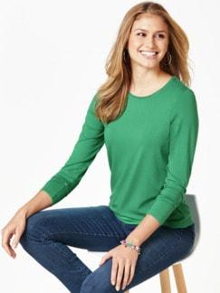 Viskose Shirt Langarm Grün Detail 1