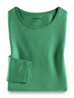 Viskose Shirt Langarm Grün Detail 2
