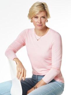 Viskose Shirt Langarm Rosa Detail 1