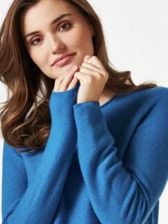 Cashmere Leicht-Pullover Palazzoblau Detail 4