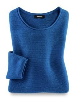 Cashmere Leicht-Pullover Palazzoblau Detail 2