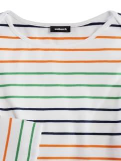 Ringelshirt Deauville Multicolor Mandarine Detail 3