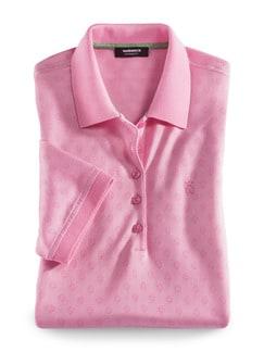 Extraglatt Polo Jacquard Pique Pink Detail 2