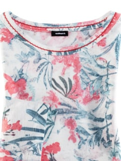 Shirt Aquarellblume Offwhite gem. Detail 4