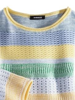 Pullover Quattro Colori Gelb/Grün Detail 3