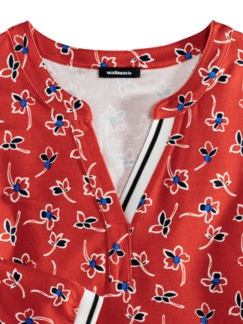 Millefleurs Shirt Strandspaziergang Karminrot Detail 3
