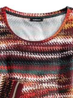 Viskoseshirt Farbverlauf Flaschengrün/Rostorange Detail 3